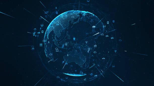 Iot Technologiekonzept. – Vektorgrafik