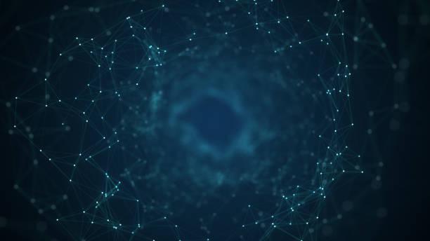 Technologie-Netzwerk-Hintergrundkonzept. – Vektorgrafik