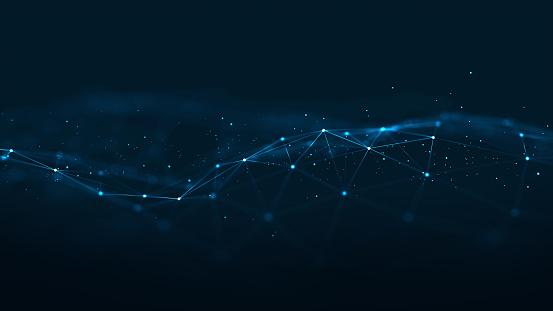 Technology Network Background.