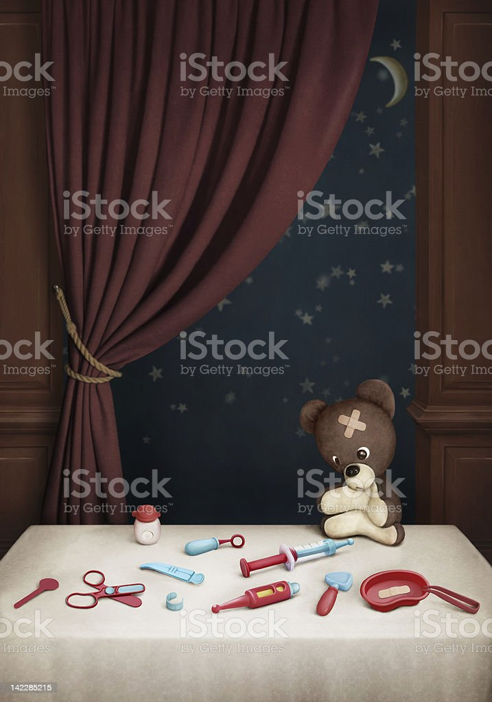 Teddy bear and set of Doctors royalty-free teddy bear and set of doctors stock vector art & more images of art