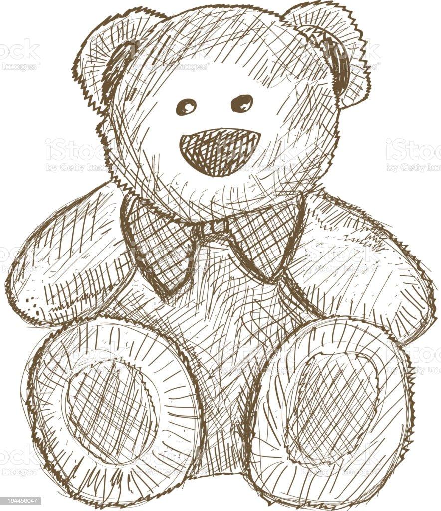 teddy bear vector art illustration