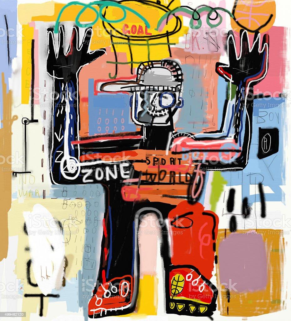 Teenager vector art illustration