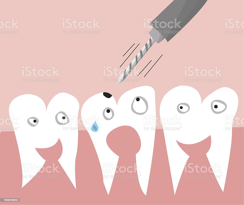 teeth and drill royalty-free stock vector art