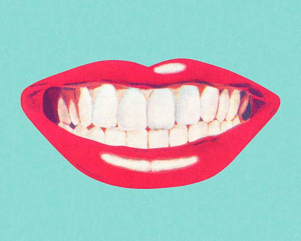 歯と唇 - 笑顔点のイラスト素材/クリップアート素材/マンガ素材/アイコン素材