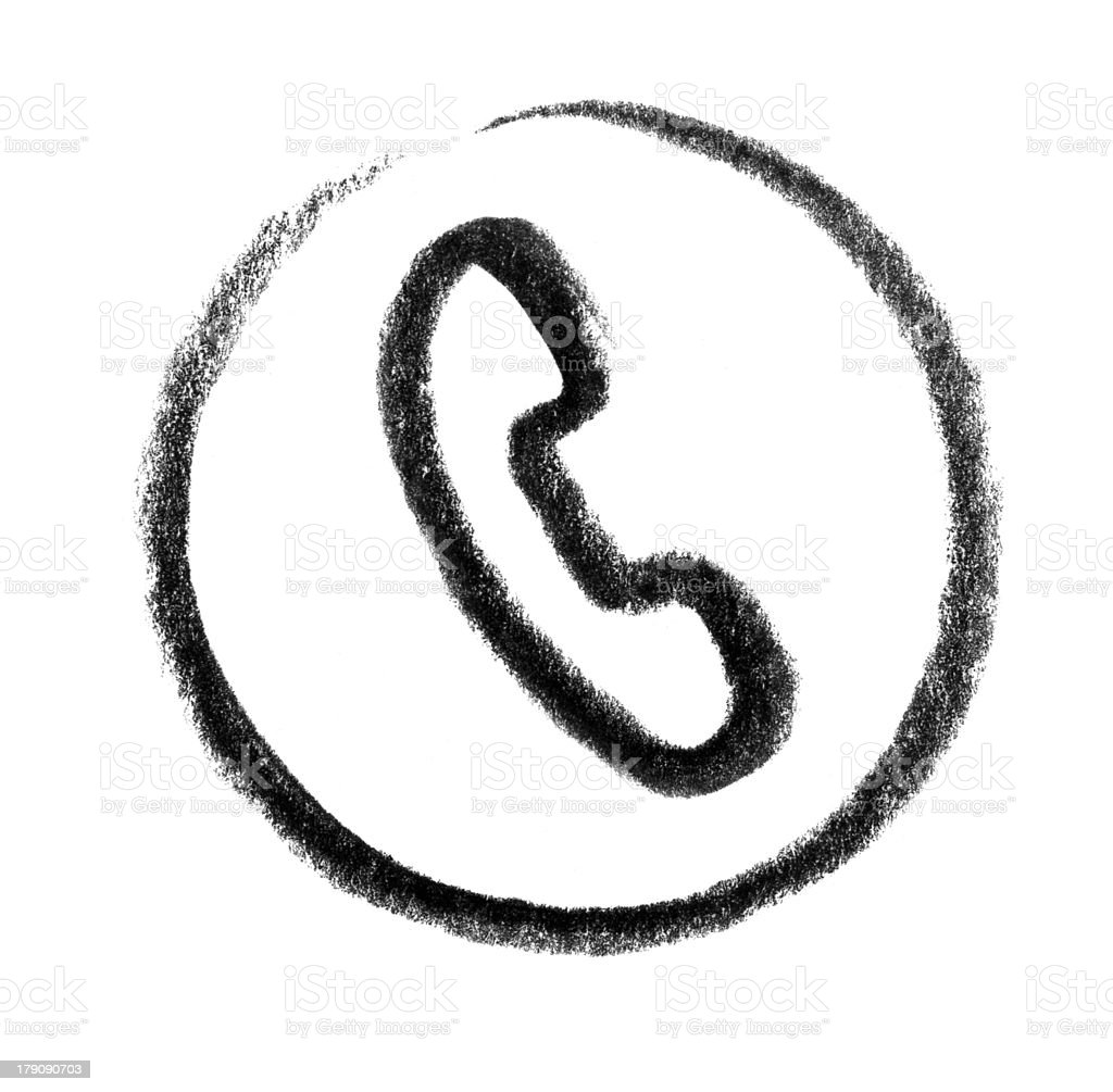 telephone icon vector art illustration