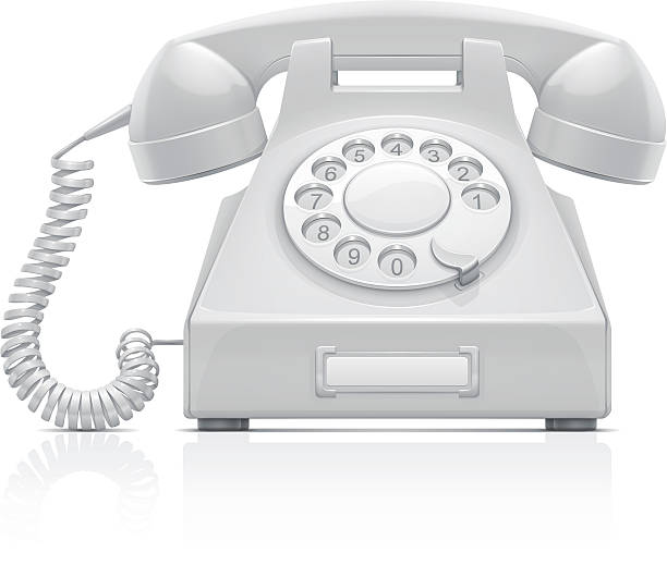 Telephone vector art illustration