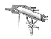 Telescope by John Dollond | Antique Scientific Illustrations