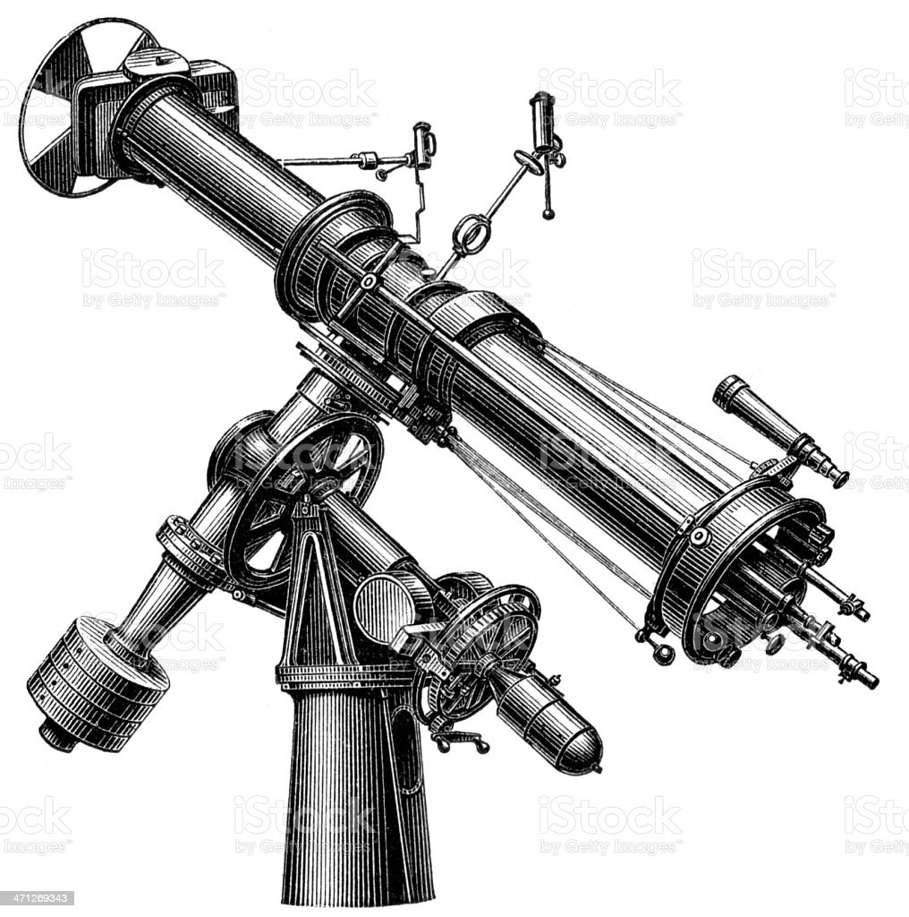 Télescope - Illustration vectorielle