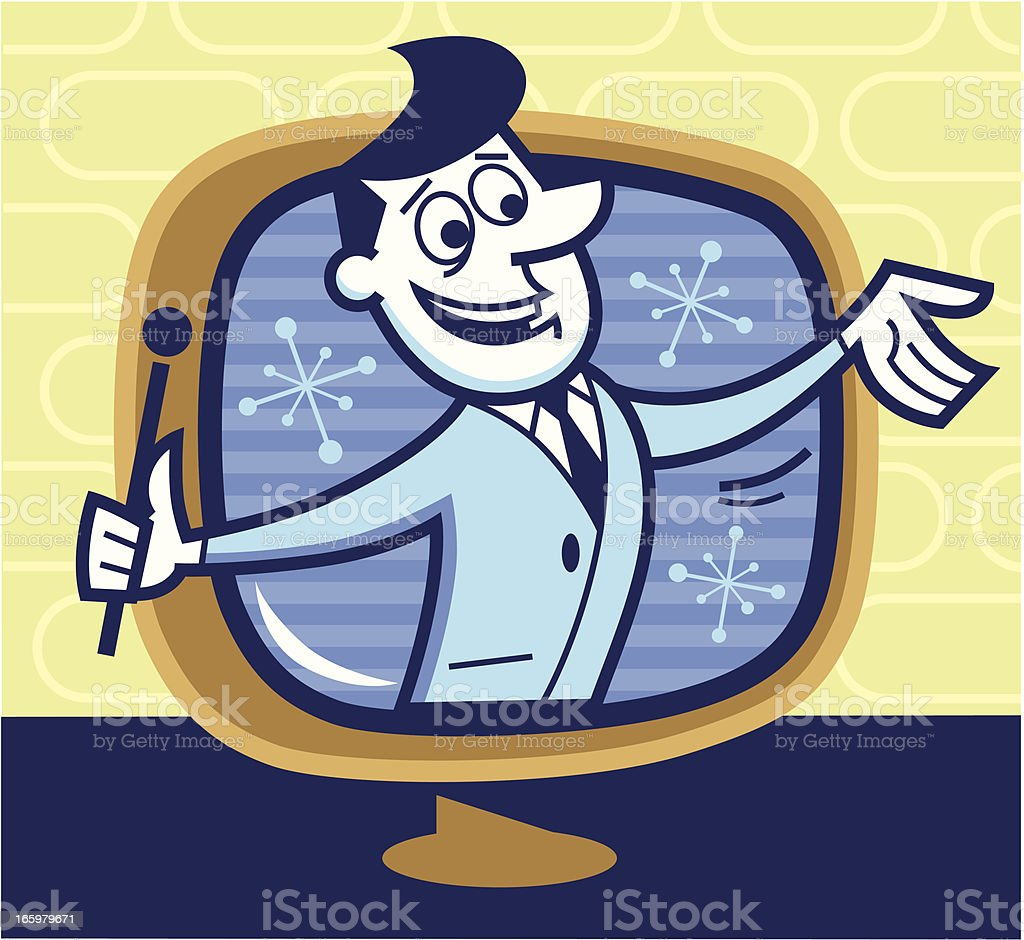 television host vector art illustration