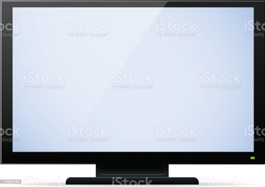LCD Television royalty-free stock vector art