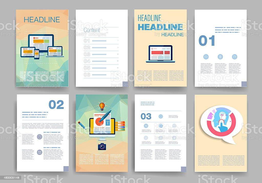 Vorlagen Satz Von Webdesign Post Broschüren Mobile Technologie ...
