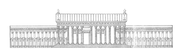 Temple of Bel, Palmyra, Syria | Antique Architectural Illustrations