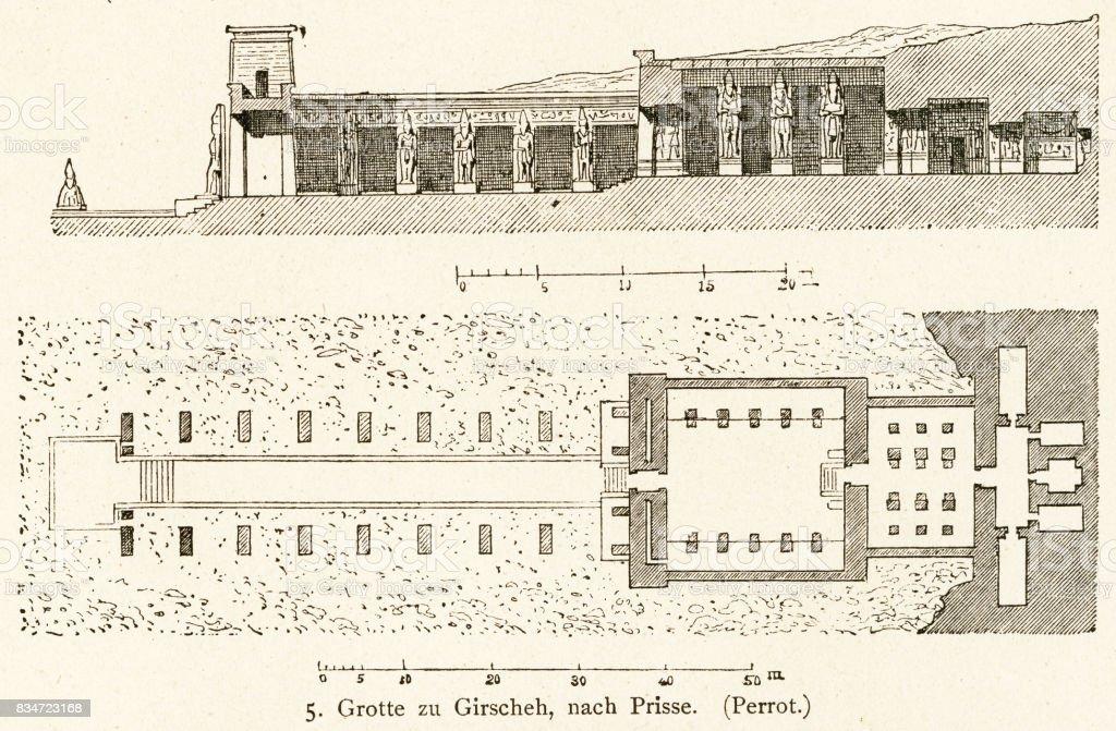 Temple of Gerf Hussein vector art illustration