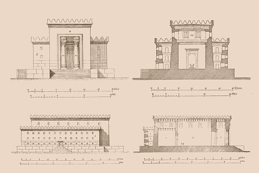 Illustration of a Temple of Solomon reconstruction