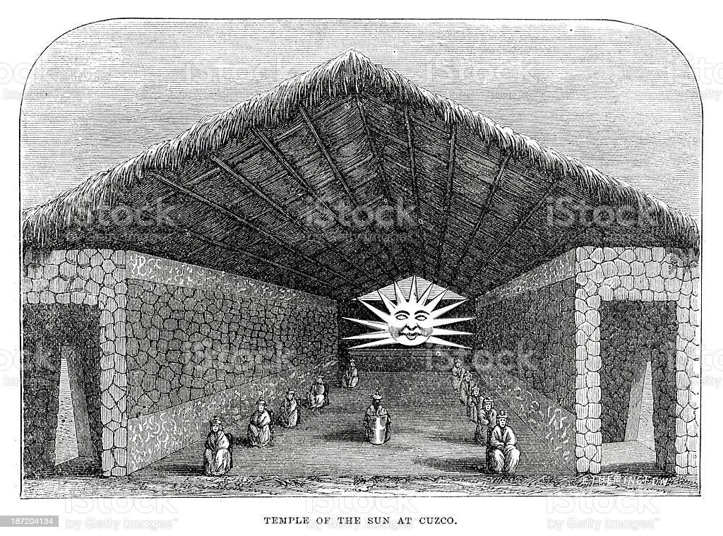 Temple of the Sun vector art illustration