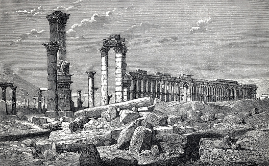 Temple ruins in Palmyra