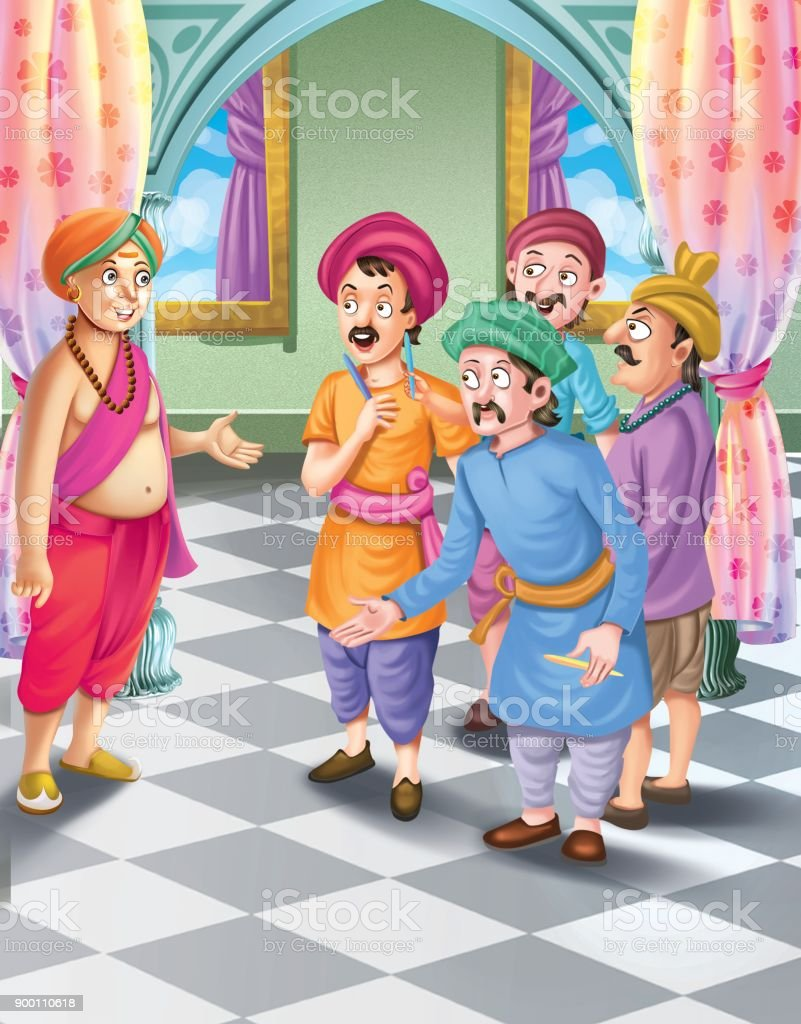 Tenali Raman Stories Stock Illustration - Download Image Now
