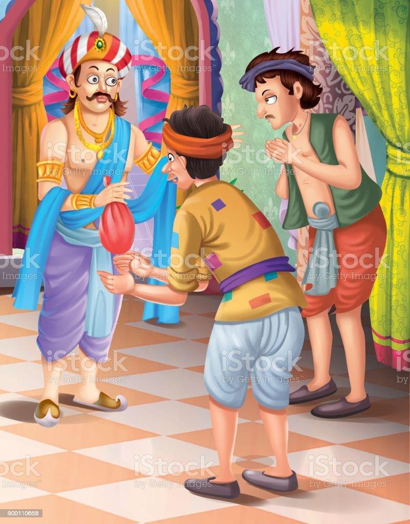 Tenali Raman Stories Stock Illustration - Download Image Now