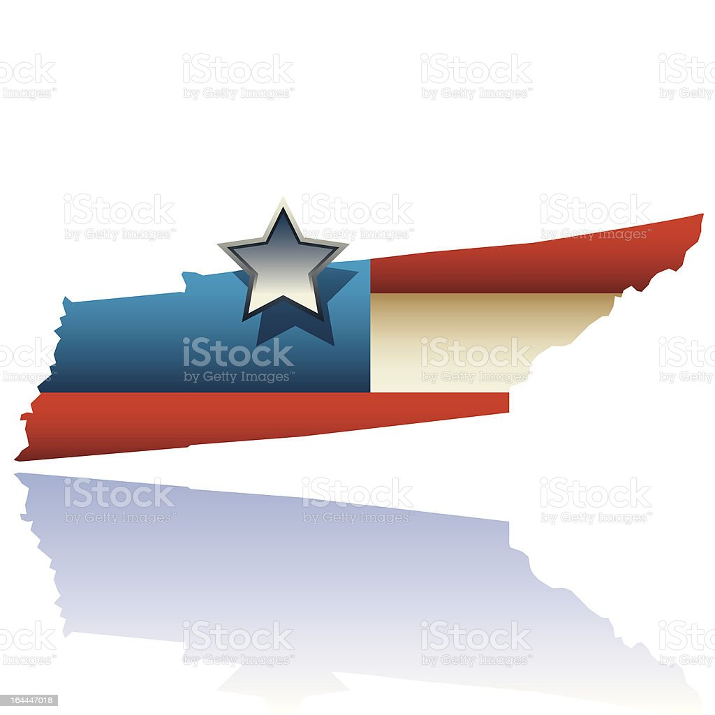 Tennessee state map royalty-free stock vector art