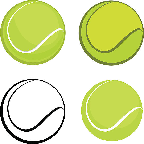 Tennis ball vector art illustration