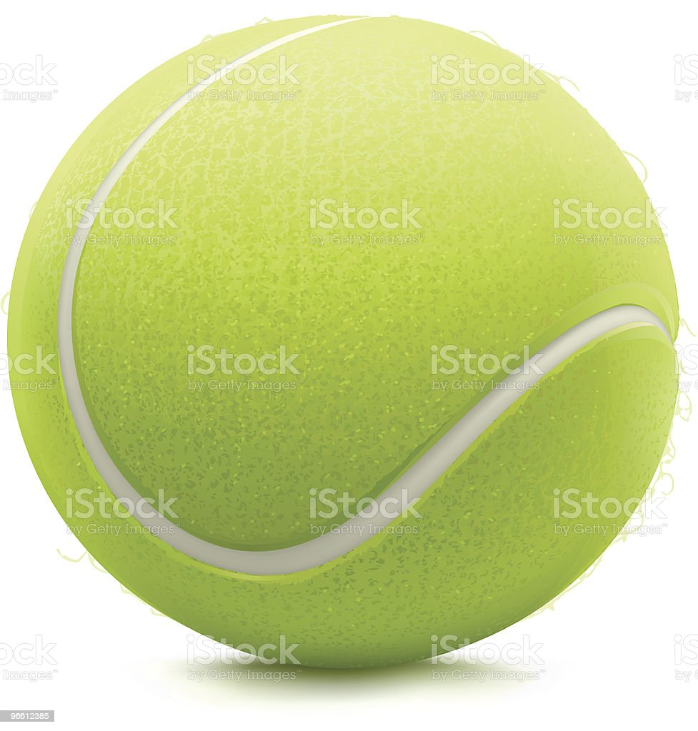 Bola de Ténis - Royalty-free Bola de Ténis arte vetorial