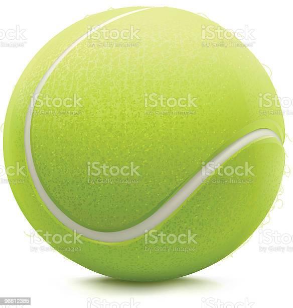 Tennis Ball-vektorgrafik och fler bilder på Cirkel