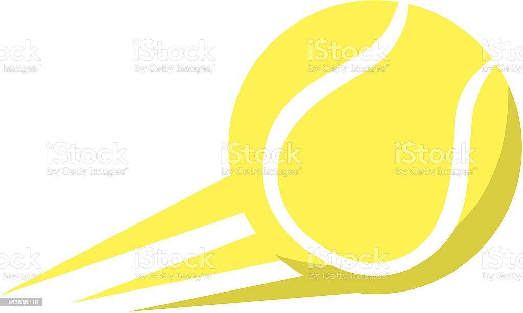 Tennis ball logo vector art illustration