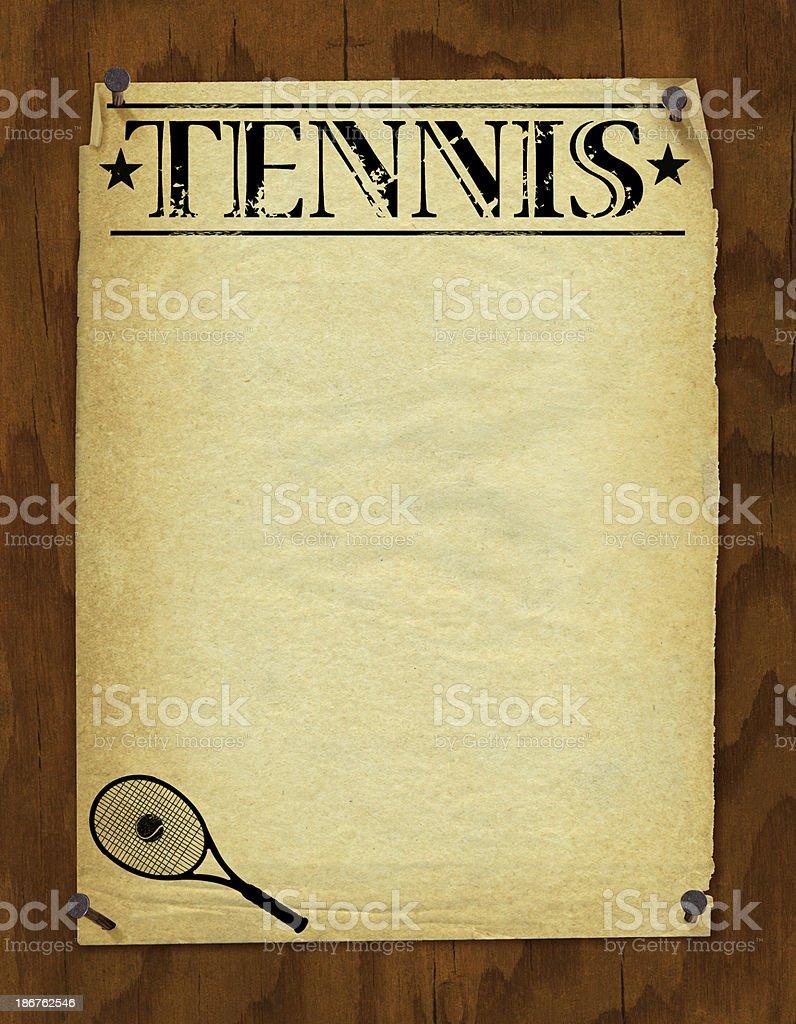 Tennis Poster Background - Retro royalty-free stock vector art