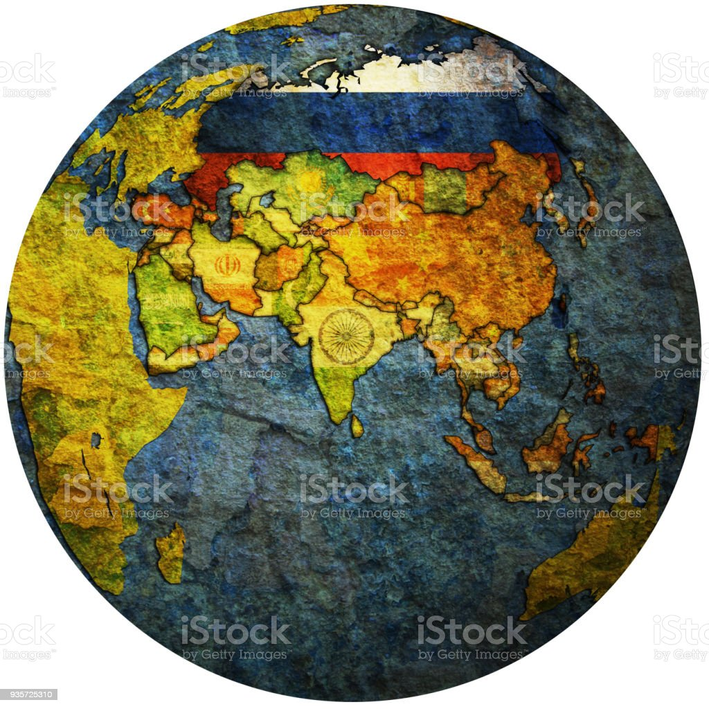 Territory of russia with flag on globe map stock vector art more territory of russia with flag on globe map royalty free territory of russia with flag gumiabroncs Images