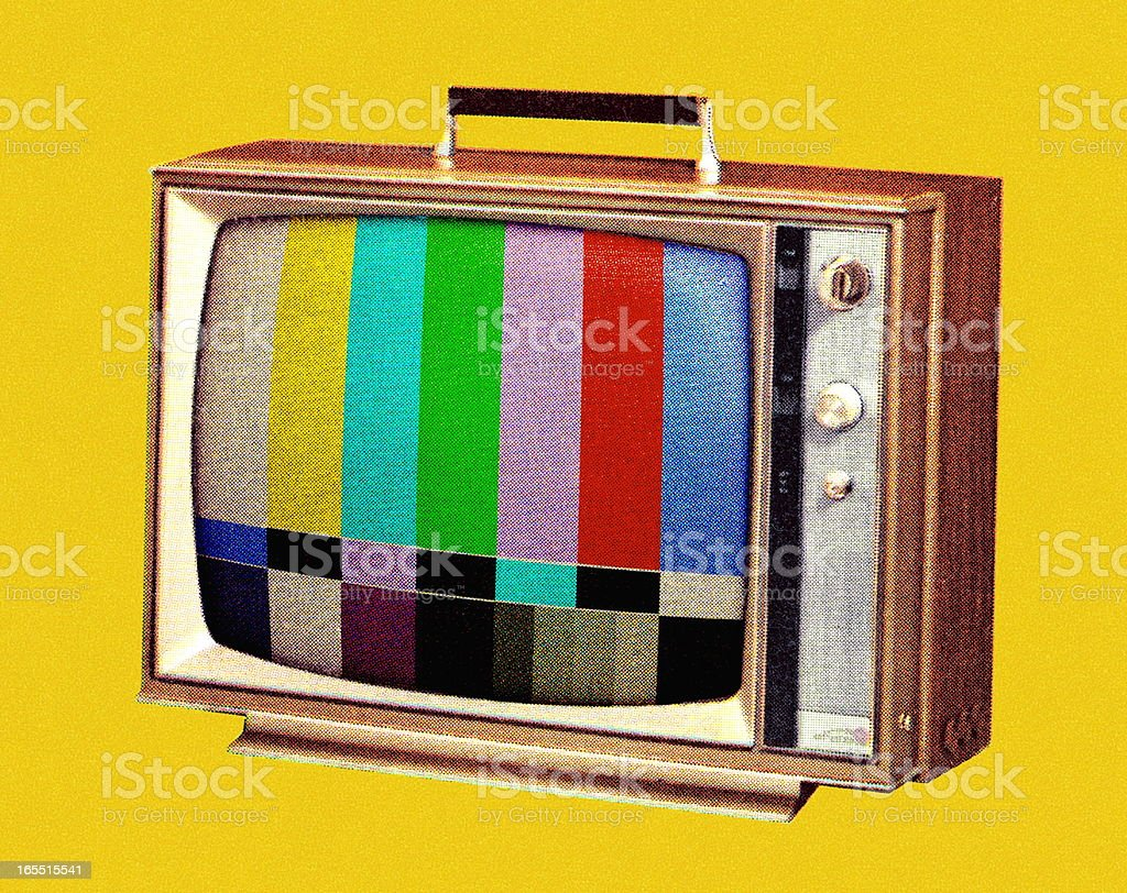 TV Test Pattern vector art illustration