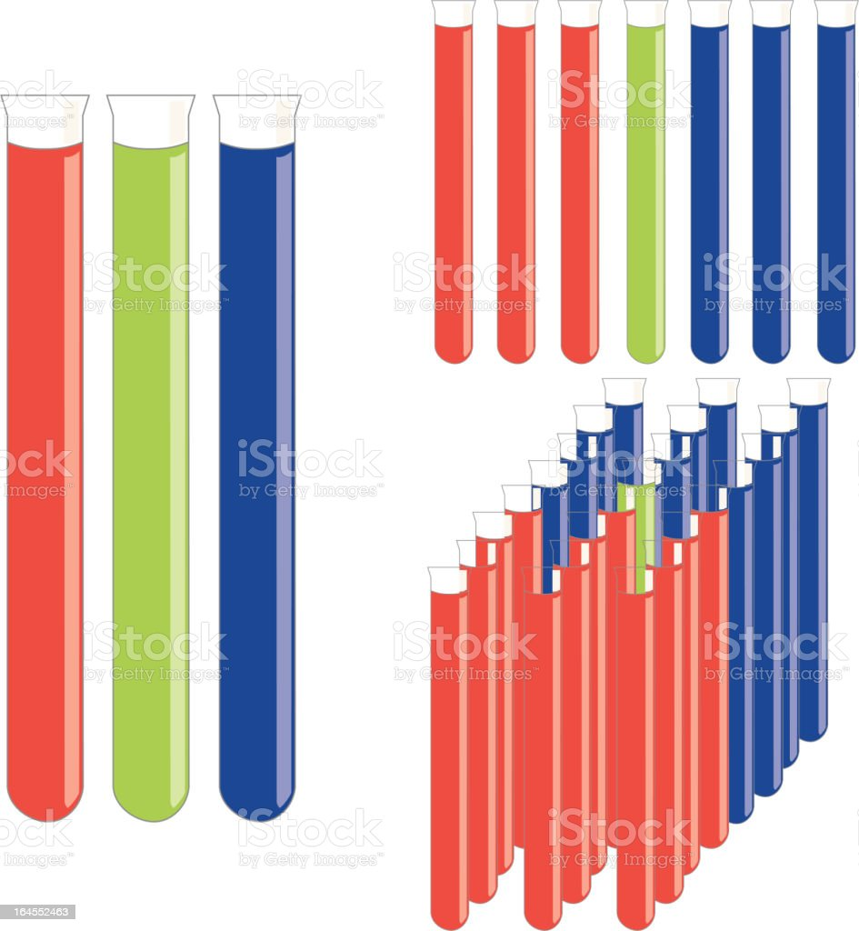Test Tubes (Vector) royalty-free stock vector art