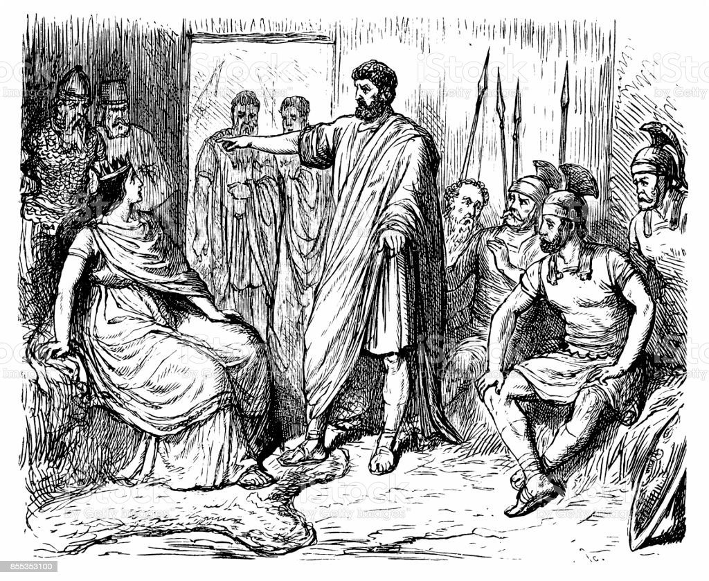 Teuta, Queen of Illyria, visit from Roman ambassadors