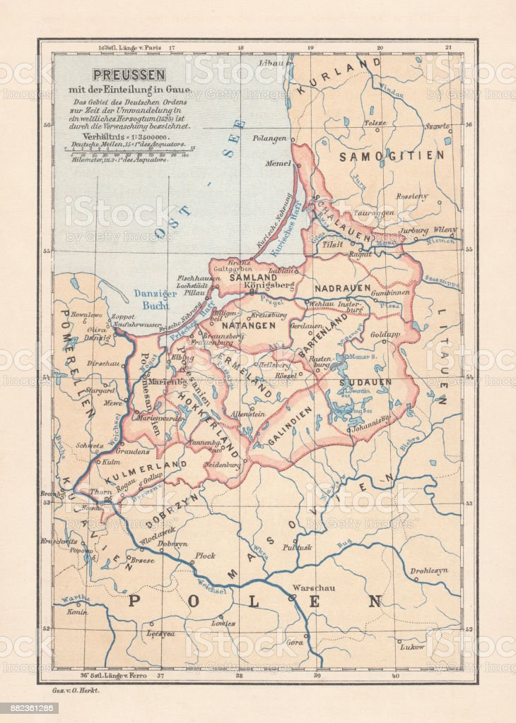 Teutonic Order state (1525), the country of origin of Prussia vector art illustration