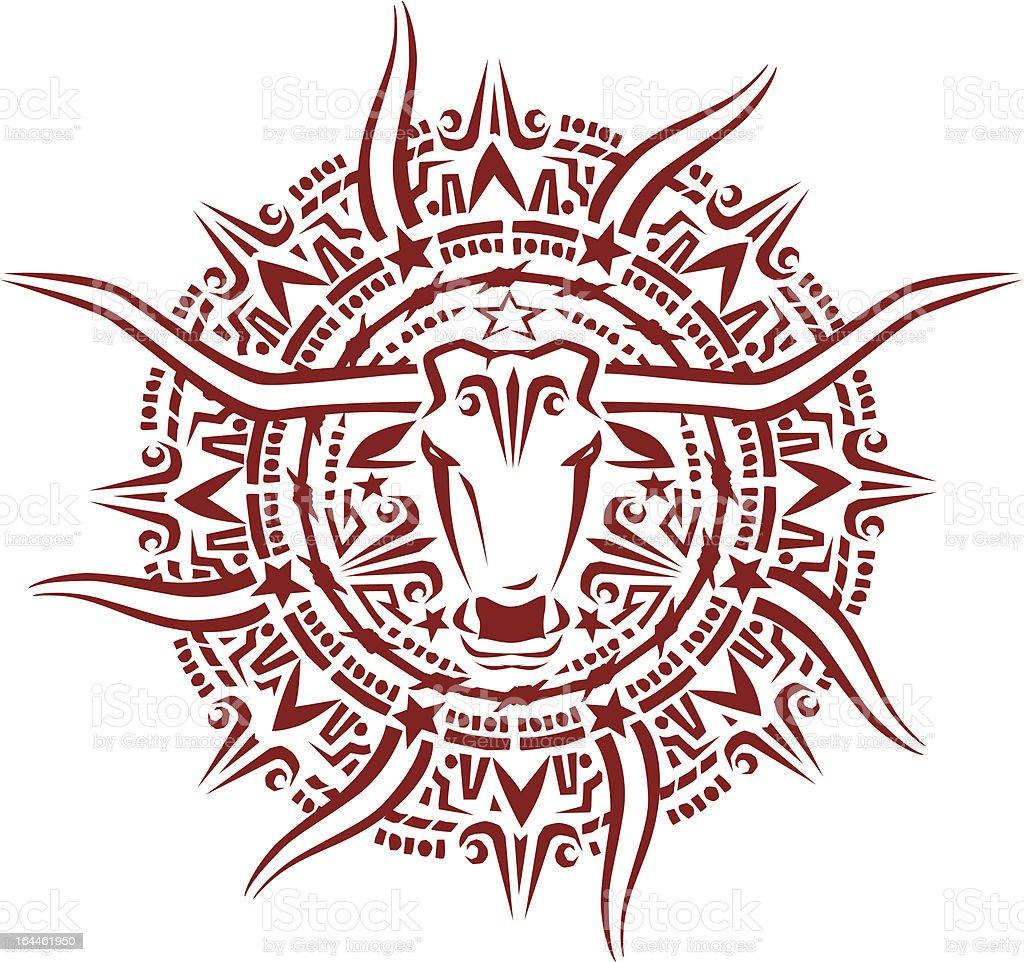 Texas Aztec Sunburst royalty-free stock vector art