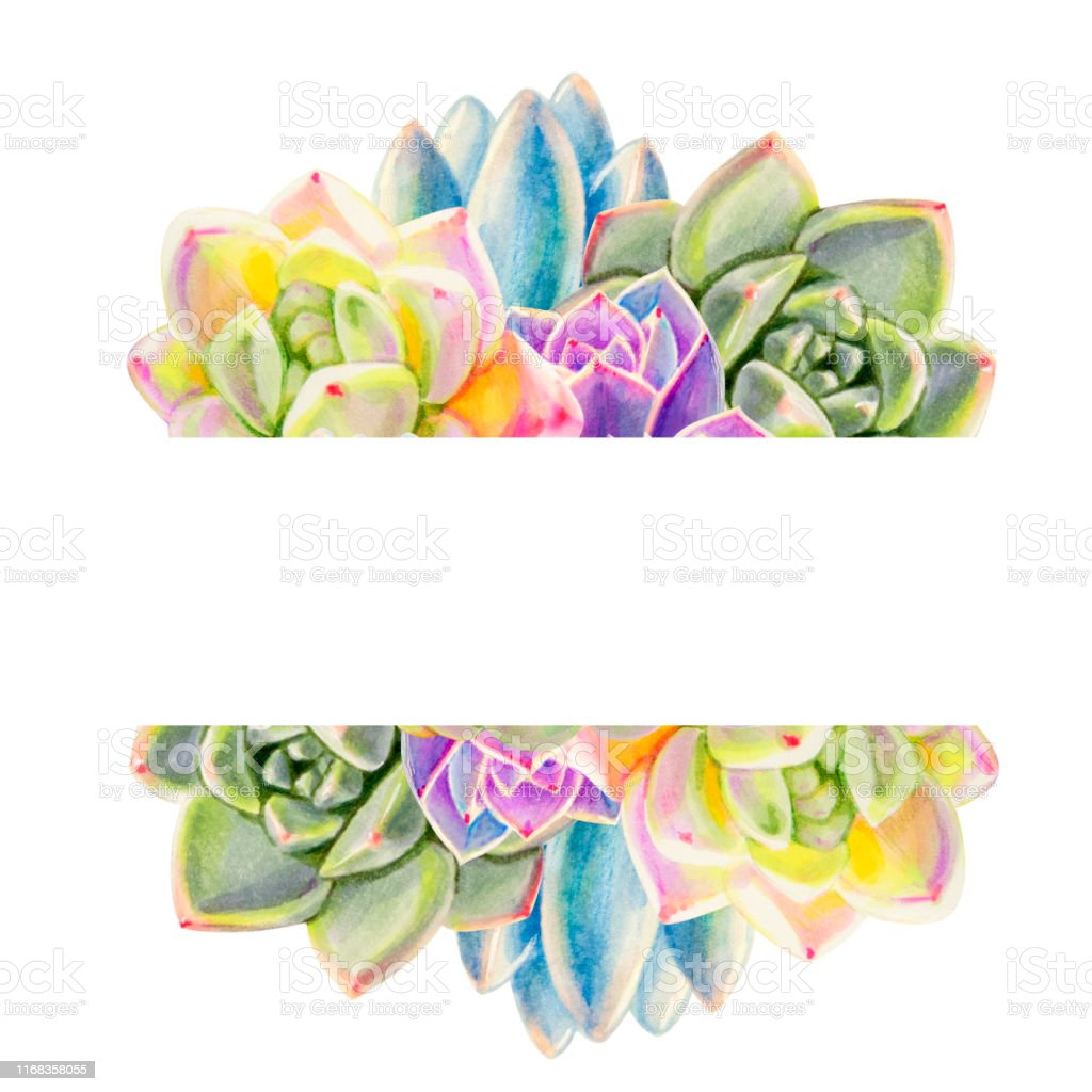 Renkli Sulu Renkten Metin Cercevesi Kompozisyonu Dekoratif