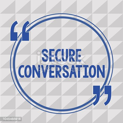 Text sign showing Secure Conversation. Conceptual photo Secured Encrypted Communication between Web Services.
