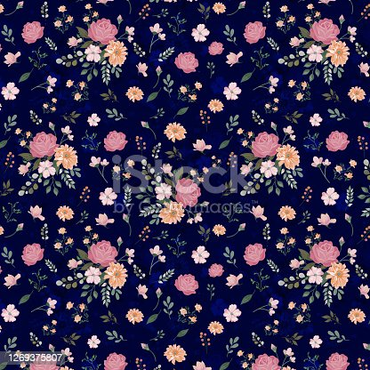 istock Textile floral pattern 1269375807