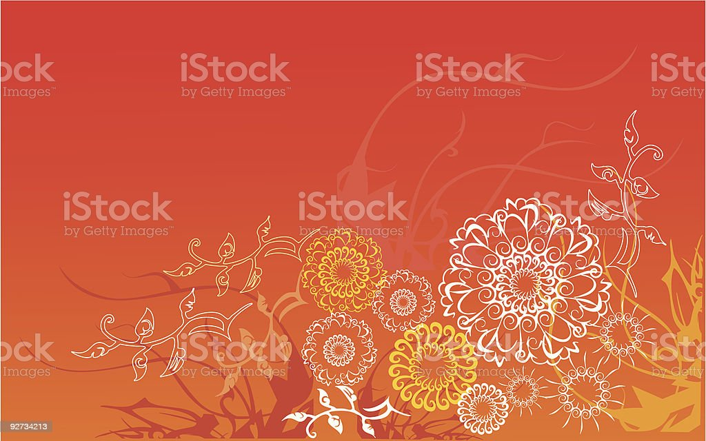 textile flowers pattern design background royalty-free stock vector art