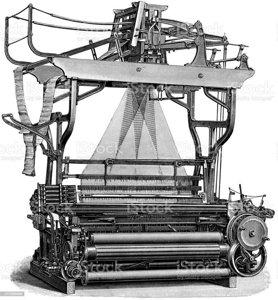 Textile Machine royalty-free textile machine stock vector art & more images of agricultural machinery