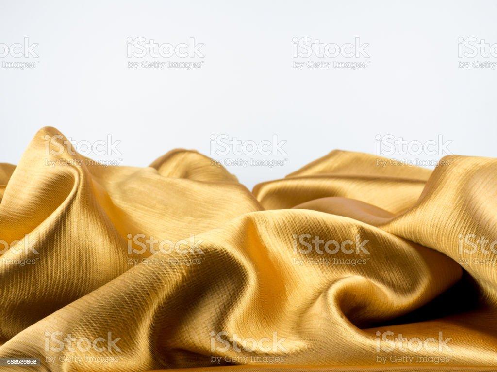 texture of Golden curtains vector art illustration