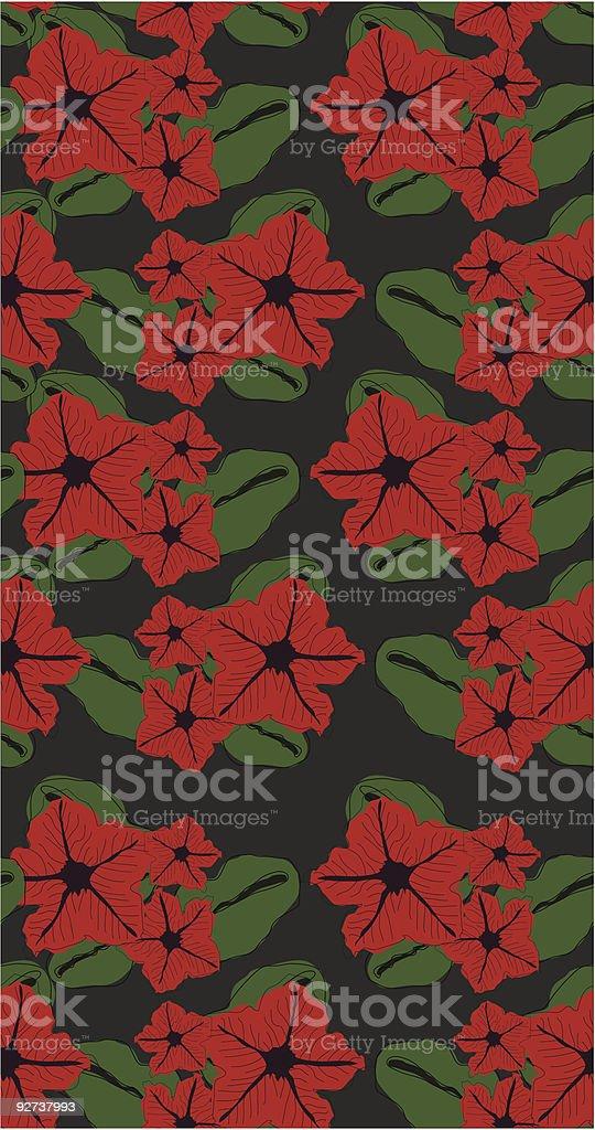 Textur mit roten retro-Blumen Lizenzfreies textur mit roten retroblumen stock vektor art und mehr bilder von altertümlich