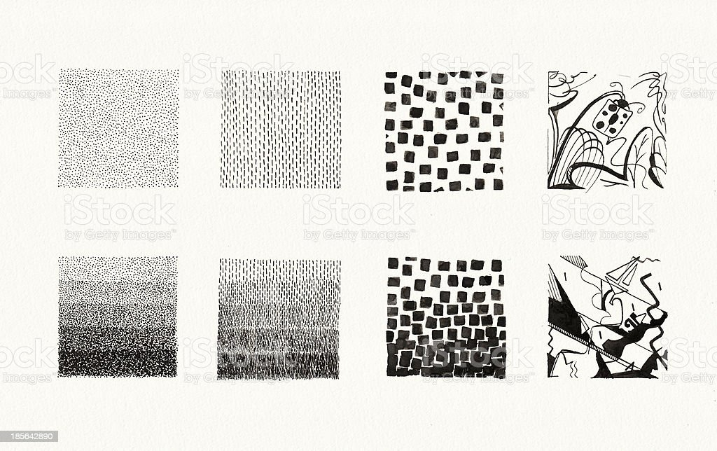 Textures Collection (Ink) royalty-free stock vector art