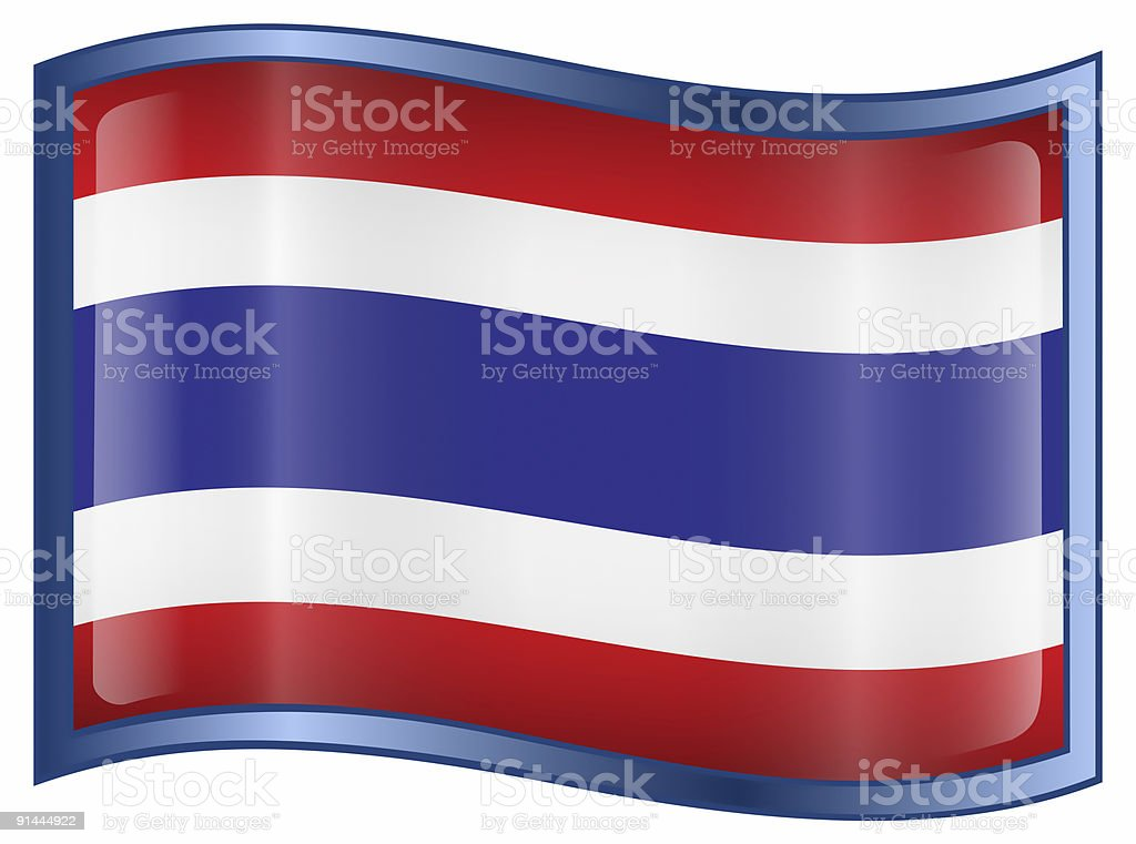 Thailand Flag icon, isolated on white background royalty-free stock vector art