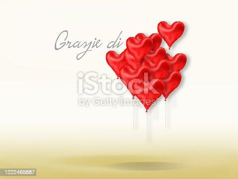 istock Thank you , Grazie di Cuore 1222465887