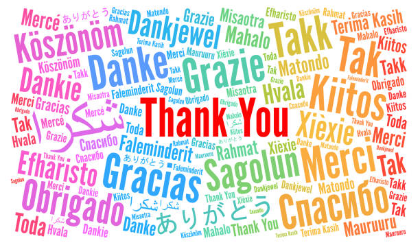 Thank You illustration word cloud in different languages Thank You illustration word cloud in different languages illustration thank you stock illustrations
