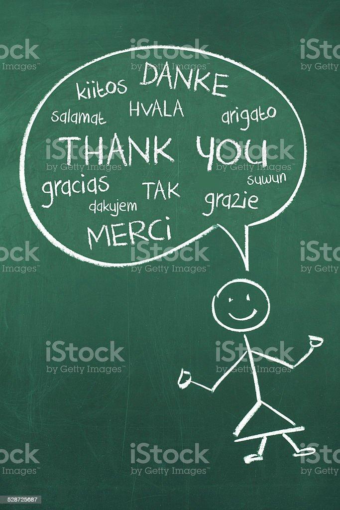 Obrigado em diferentes idiomas - ilustração de arte em vetor