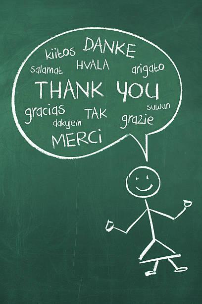 ilustrações, clipart, desenhos animados e ícones de obrigado em diferentes idiomas - aula de idioma