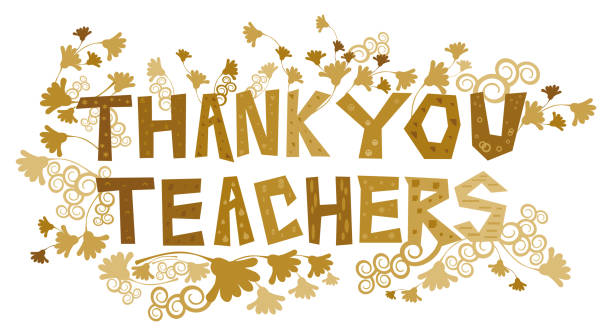Thank You Teachers vector art illustration
