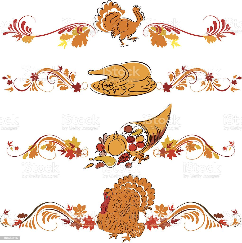 Thanksgiving ornament royalty-free stock vector art