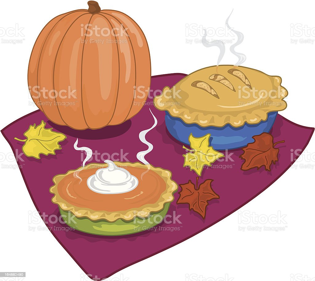 Thanksgiving Pies royalty-free thanksgiving pies stock vector art & more images of abundance